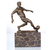 Спорт Рисунок футбольные Главная Deco Бронзовая скульптура Статуя TPE-737