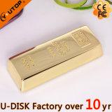 황금 바 USB 섬광 드라이브 (YT-1211L)를 미끄러지는 주문 로고