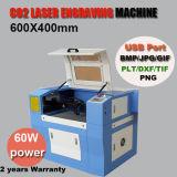 Máquina de grabado de acrílico del laser del CO2 de goma de madera del papel de cristal mini