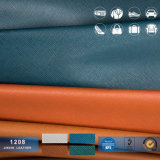 Encerado revestido do PVC Lacquring Saffiano da patente Couro-Metálica sintética do PVC