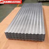 Hoja de acero acanalada del hierro de la superficie revestida primera del cinc