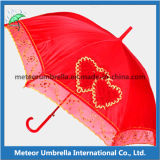 Auto diritto Open Wedding Umbrella con Lace Board