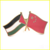 Liga chapeada ouro China do metal e Pin da bandeira de Kuwait