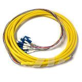 Trecce ottiche della fibra di uscita di memorie del PVC Jack LC Upc 12