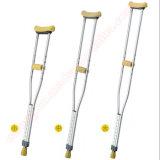 Muletas ajustáveis médicas do aço inoxidável