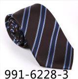 Moderne gestreifte Seide-/Polyester-Geschenk-Gleichheit (6224-1)