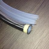 Tubulação de mangueira trançada de alta pressão do Teflon de Convuluted do aço inoxidável