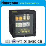 mini refrigerador de la barra de la puerta de cristal 42L para las habitaciones