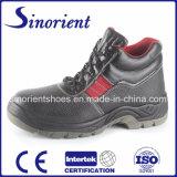 Zapatos de seguridad de cuero básicos con el certificado RS6110 del Ce