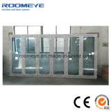 Porte de pliage en aluminium en verre de bâti de type de double chaud européen de vente