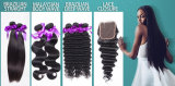 Inslag van het Haar van het Haar van Remy van de Golf van het lichaam de Machine Gemaakte Braziliaanse