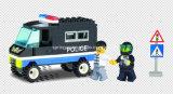 警察シリーズデザイナー護送のトラック87PCSのブロックのおもちゃ