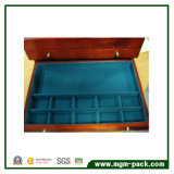 Коробка хранения ювелирных изделий высокого качества отраженная отделкой деревянная