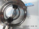 La válvula de mariposa sanitaria del acero inoxidable con la autógena termina (ACE-DF-2A)