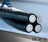 Cabo distribuidor de corrente frente e verso/Triplex/Quadruplex do cabo do ABC, do serviço do Gota-Alumínio (AAC AAAC ACSR)