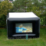 Projection arrière Inflatable Cube Movie Screen pour Advertizing