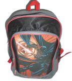 O estudante cor-de-rosa dos desenhos animados caçoa sacos de escola