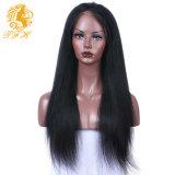 8A黒人女性の赤ん坊の毛のGluelessの完全なレースのかつらが付いているまっすぐなレースの前部人間の毛髪のかつらのためのブラジルの完全なレースの人間の毛髪のかつら