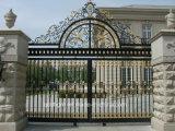 Puerta labrada usada chalet al aire libre europeo de la puerta durable del hierro labrado del estilo
