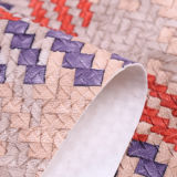 Cuoio artificiale tessuto variopinto dell'unità di elaborazione del reticolo della materia prima per le carte da parati, sofà, borse