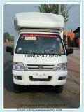 Benzina cinese che esegue i Doppi-Layerice furgoni crema della cucina dell'intervallo di gas del rimorchio