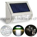 Le mur solaire blanc du détecteur de mouvement de lumière solaire bon marché de jardin DEL allume extérieur