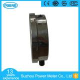 olio mezzo dell'acciaio inossidabile del collegamento inferiore di 150mm - manometro riempito