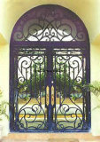 아름다운 우아한 장식적인 단철 별장 등록 문 석쇠