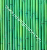 인공적인 경작된 돌담 도와 대나무