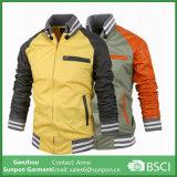 가을 형식 바느질 고리 남자의 재킷은 적당한 스포츠용 잠바 재킷을 체중을 줄인다