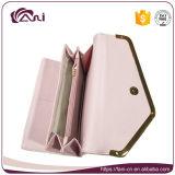 Carpetas largas de la manera RFID del estilo del color rosado para las mujeres