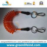 よく強いプラスチック黒い管のコアオレンジ上塗を施してある引き込み式の締縄
