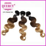 Волосы Remy девственницы цвета Ombre людские