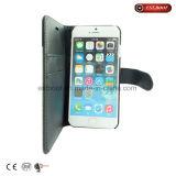 Случай телефона Fabric+PU с стойкой телефона/случаем iPhone