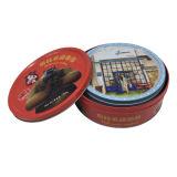 Печатание круглой коробки олова Bistuit коробки комплекта выбивая