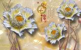 模倣的な救助の彫刻セラミックタイルモデルNo.で印刷される蝶および花の紫外線: CZ-002