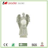 Figurine caldo di angelo di vendita di Polyresin con gli indicatori luminosi solari del LED per la decorazione del giardino