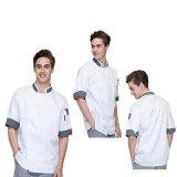 Insiemi su ordinazione dell'uniforme centrale del cuoco unico del manicotto di lunghezza del cotone