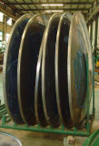 LPG PLC 통제 타원형 탱크 탱크 트레일러를 위한 맨 위 깎고는 및 플랜지를 붙이는 기계