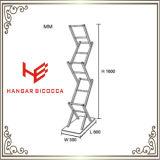 Het Meubilair van het Roestvrij staal van het Boekenrek van de Plank van de Bloem van de Plank van het Dossier van de Plank van de Opslag van het Boekenrek van de Boekenkast van de Plank van het huis (RS162101)