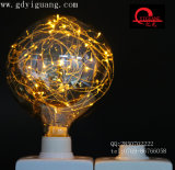 자주색 LED 별 전구 구리 철사 특별한 물자 G125 G95 G80 다채로운 전구