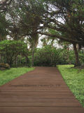 단단한 대나무 플라스틱 합성물 137 브라운 옥외 환경 Decking