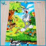 75X150cm 100%年の綿のベロアの反応印刷されたカスタム漫画のビーチタオル