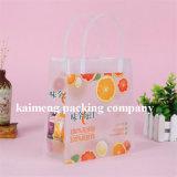 Sacchetto promozionale del PVC della plastica del pacchetto del succo di arancia del rifornimento della Cina con la maniglia