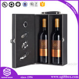 高品質によってカスタマイズされる装飾的なワイン包装の革ボックス
