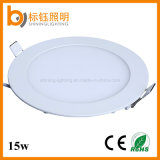 Luz interna redonda da lâmpada do teto do painel do diodo emissor de luz 15W de AC85-265V CRI>85