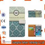 Caja impresa del tirón del cuero de la carpeta del teléfono para el iPhone 7