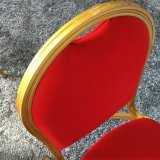 Foshan-moderner roter stapelbarer Metallbankett-Stuhl