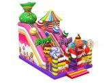 Sweety-Süßigkeit-aufblasbare Kind-federnd Schloss-Plättchen für Verkauf