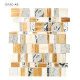 Mosaico al por mayor del vidrio manchado del azulejo de Backsplash de la cocina del material de construcción